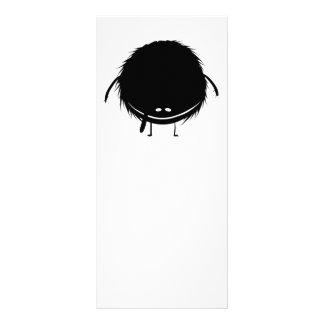 black fuzzy duzzle monster rack card