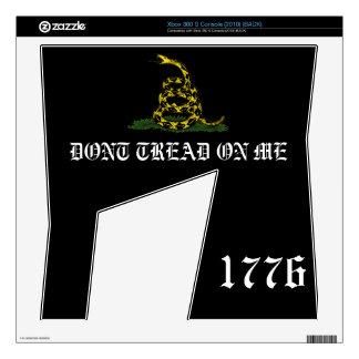 black Gadsden flag 1776 xbox360 Skin Skins For Xbox 360 S