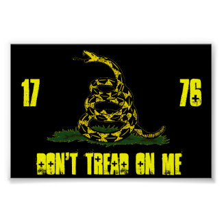 black Gadsden flag Poster