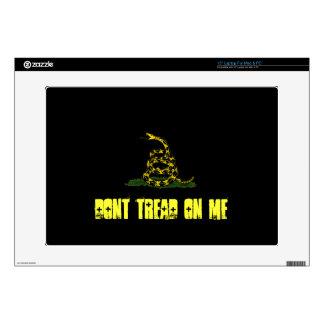 "black Gadsden flag 15"" Laptop Skin"