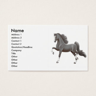 Black Gaited Horse Business Card