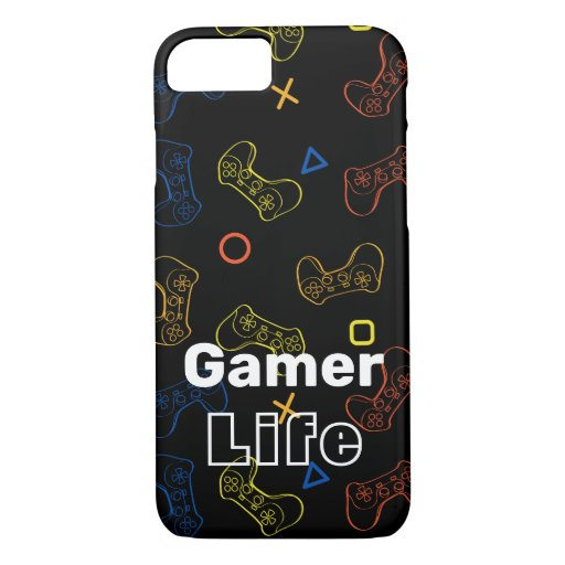 Black Gamer life iPhone case