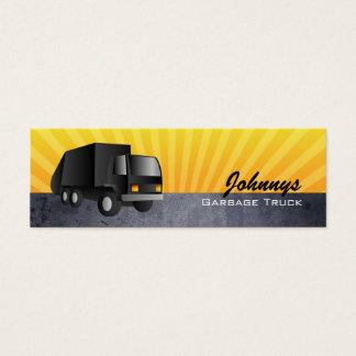 Black Garbage Truck Skinny Business Cards