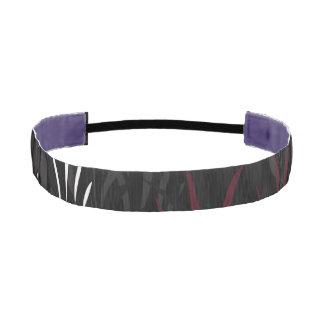 Black Garnet and White Feathereed pattern Headband