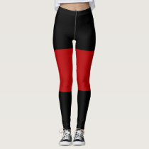 Black Garnet Black Sandwich Pattern Leggings