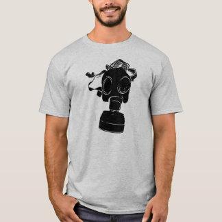 Black Gas Mask Twofer Crew Long Sleeve T-Shirt