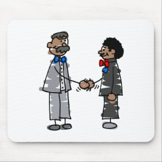 Black Gay Couple Mouse Pad