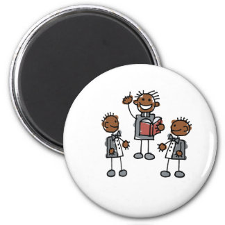 Black Gay Couple with Preacher Refrigerator Magnets