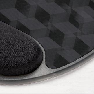 Black geometric gel mousepad