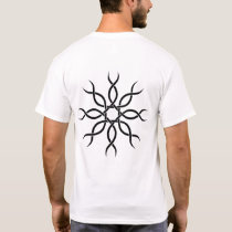 Black Geometric knot-work back design 4 T-Shirt