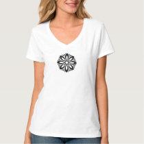 Black Geometric knotwork design 3 T-Shirt