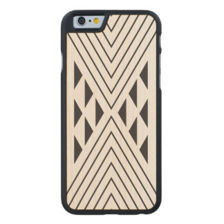 Black Geometric triangle Carved® Maple iPhone 6 Case