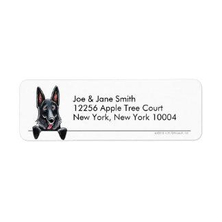 Black German Shepherd Clean & Simple Custom Return Address Labels