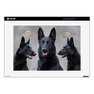 Black German Shepherd Collage Laptop Decal
