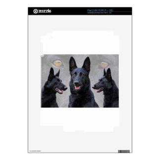 Black German Shepherd Collage Decals For The iPad 2