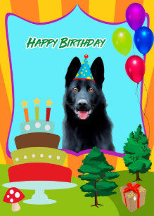 German Shepherd Lovers Birthday Cards | Zazzle