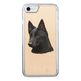 Black German Shepherd Dog Carved iPhone 8/7 Case