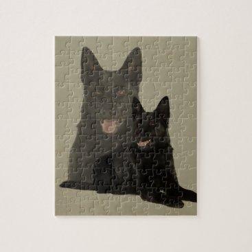 Black German Shepherd Dog - GSD Jigsaw Puzzle