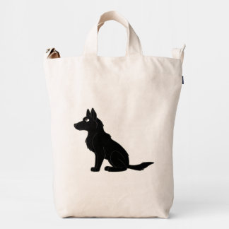 Black German Shepherd Duck Bag