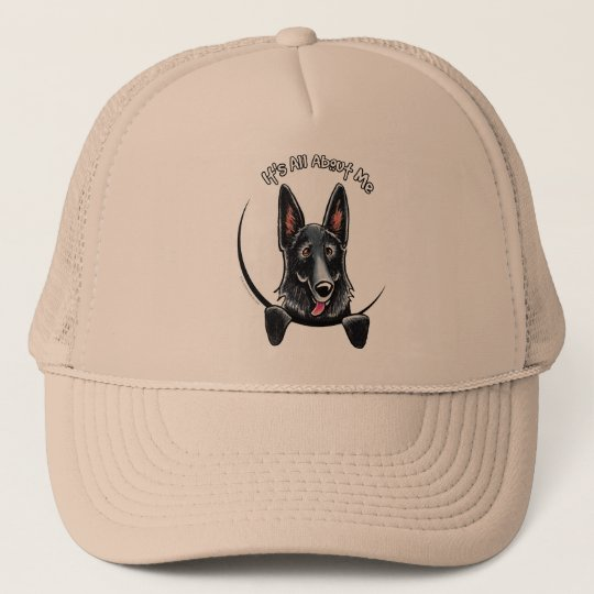 3d47216c0ab Black German Shepherd IAAM Trucker Hat