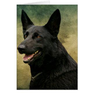 Black German Shepherd II Greeting Cards