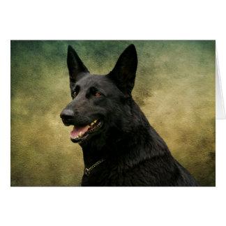 Black German Shepherd II Card