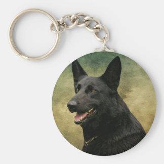 Black German Shepherd II Keychain