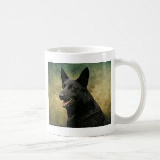 Black German Shepherd II Mugs