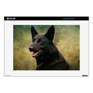 Black German Shepherd II Skin For Laptop