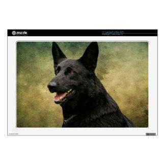 Black German Shepherd II Laptop Skins