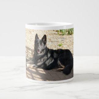 black german shepherd laying.png large coffee mug