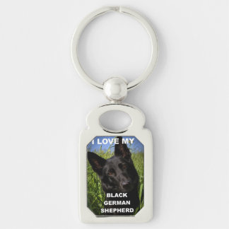 black german shepherd love w pic keychain