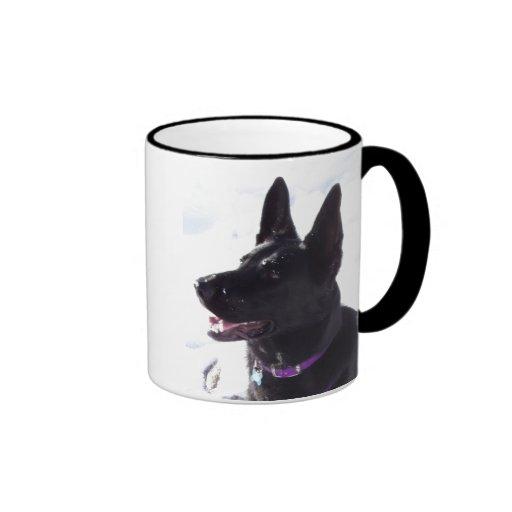 Black German Shepherd Mug