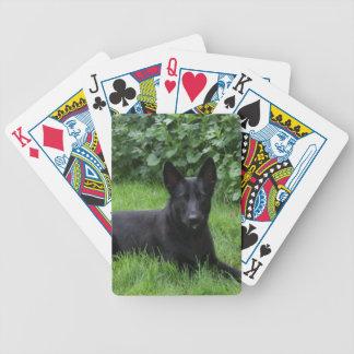 Black German Shepherd Playing Cards