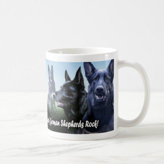 Black german Shepherds Rock Coffee Mug