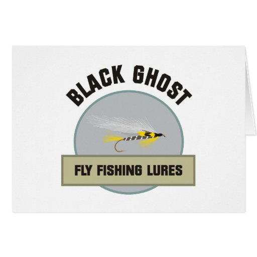 Black Ghost Fly FIshing Lure Greeting Cards