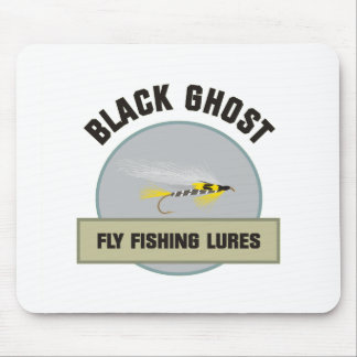 Black Ghost Fly FIshing Lure Mouse Pad