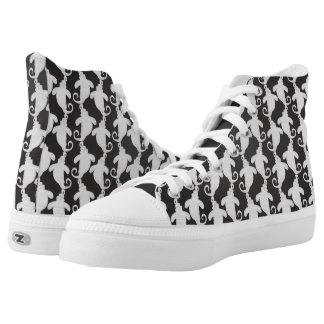 Black Ghost High Top Shoes