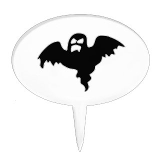 Black Ghost spooky image Cake Topper