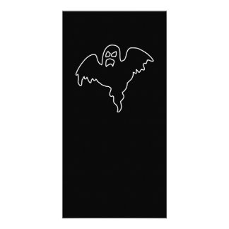 Black Ghost spooky image Card