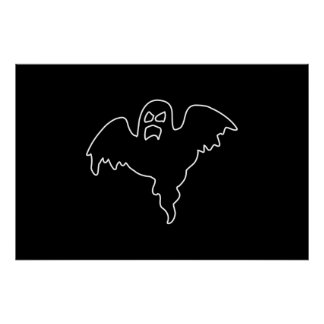 Black Ghost spooky image Poster