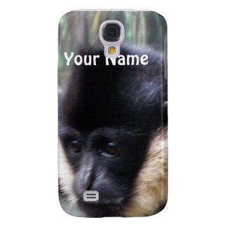Black Gibbon Ape Face Closeup Pastel Galaxy S4 Cases