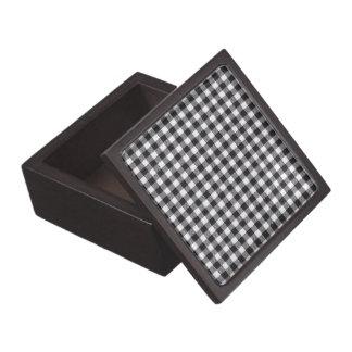 Black Gingham Keepsake Box