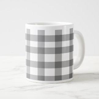 Black Gingham Large Coffee Mug