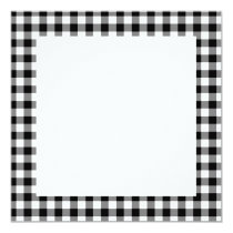 Black Gingham Pattern Invitation