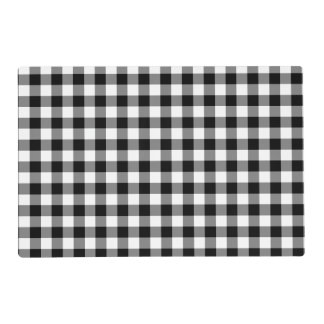 Black Gingham Placemat