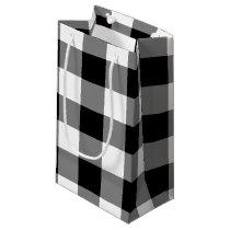 Black Gingham Small Gift Bag