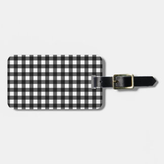 Black gingham tag for bags