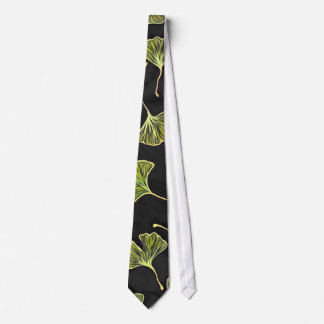 Black Ginkgo Leaf Tie