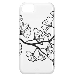 black ginkgo tree with leaves cover for iPhone 5C